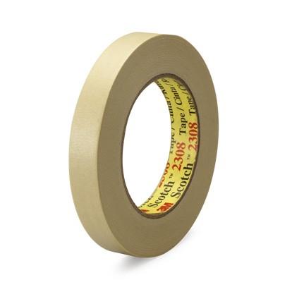 3M 2308 Performance Masking Tape Tan 24 mm x 55 m Roll