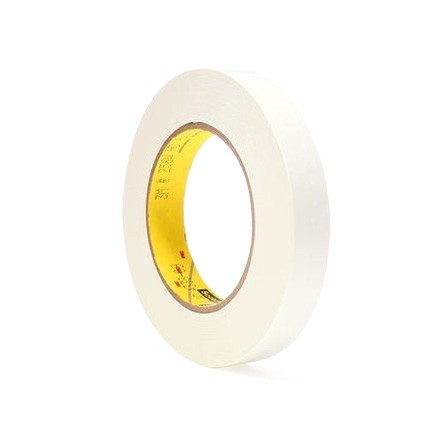 3M 256 Printable Flatback Paper Tape White 1 in x 60 yd Roll