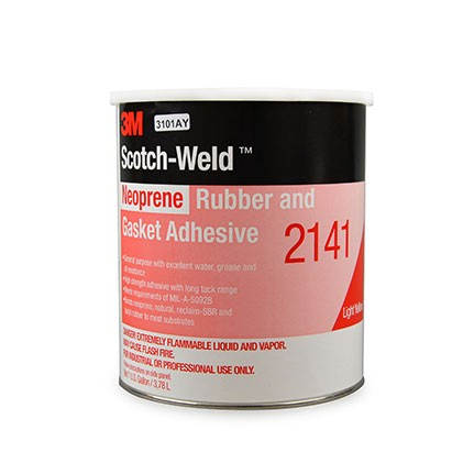 3M 2141 Neoprene Rubber and Gasket Adhesive Light Yellow 1 gal Pail